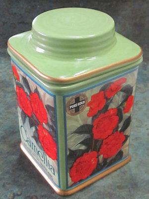 Camellia Oneida Vintage Label Canister Collection Green Redlands Calif Orange