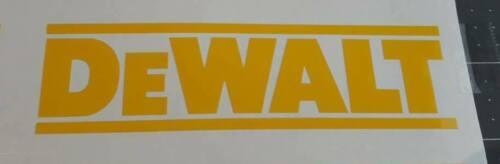 DeWalt Tools Decal Sticker Bumper Tool Box Saw Drill