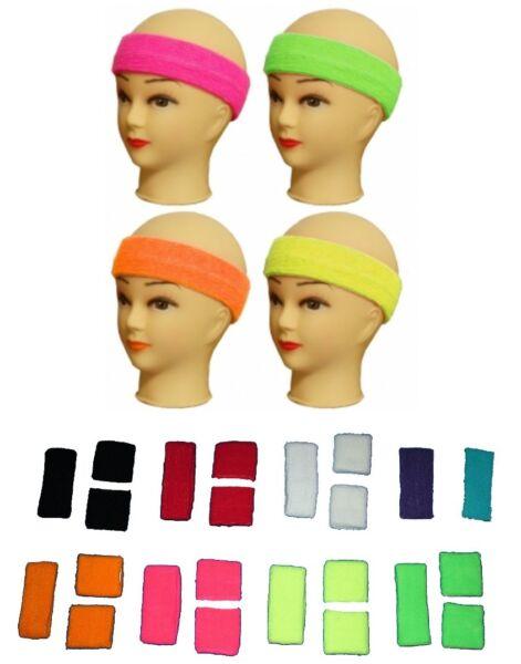 Stirnband HEADBAND Schweißband Armband WRISTBAND SPORT FASCHING PARTY