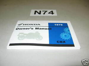 New-Owners-Manual-1979-CBX-Genuine-OEM-Honda-Operators-Book-N74