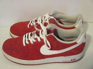 Air Force 1 Low Gym Red White Suede Mens Size 12 J139 Ebay