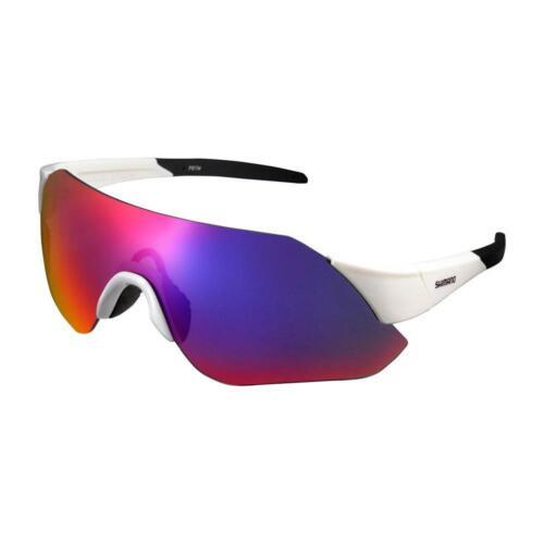 Shimano Eyewear - AEROLITE CE-ARLT1 One Piece Cycling Sunglasses Metallic White