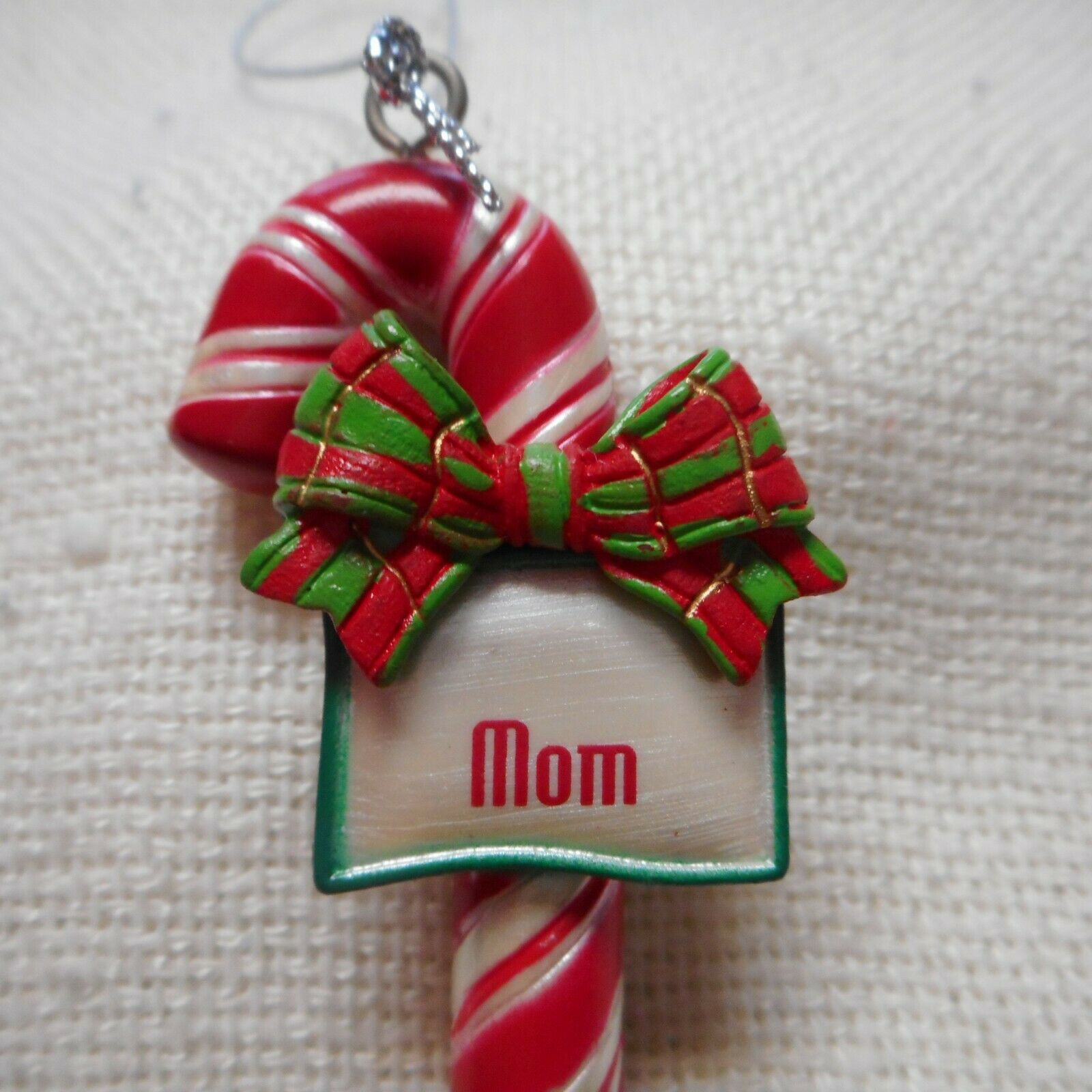 Ornament OOAK Christmas Candy Cane HAND-TIED Name KATHLEEN Joyful MEMORIES!