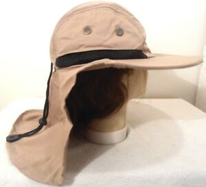 f41507168a3 BOONIE NECK COVER FLAP SUN PROTECTION HAT DARK KHAKI FISHING HUNT ...