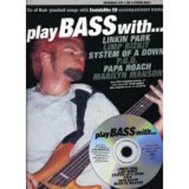 Play Bass With Linkin Park Limp Bizkit Music Book & CD 4-5 Bass Guitar B45 S157