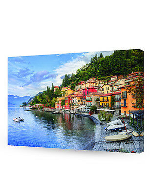 Lake Como in Lombard Italy Giclee Canvas Prints for Wall Decor.