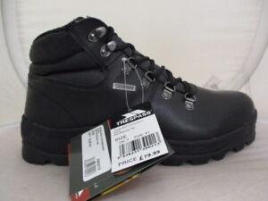 Boots Terrific Value Men's Shoes Trespass Uomo Rhone Pelle Stivali Da Passeggio Uk 12 Eu 46 Ref 5596