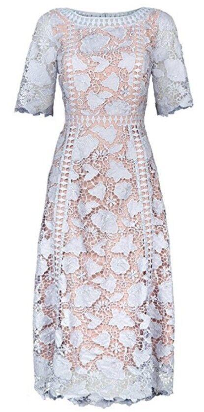 Monsoon Scarlett Light Blau Lace Floral Party Dress Dress Dress Größe 12 Bnwt Special Occasio   Verrückter Preis    Qualität Produkt    Erste in seiner Klasse  910156