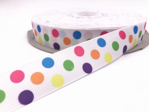 """À faire soi-même 5-10 Yd 1/""""25mm gros-grain Coeur Imprimé Pattern Sewing Ribbon Crafts"""
