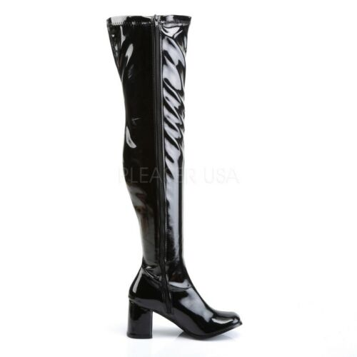 FUNTASMA GOGO-3000 Overknee-Stiefel aus Lack Schwarz Funtasma Overknee Stiefel .