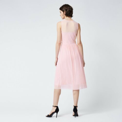 Rose WAREHOUSE Occasion Maille Robe 6//8//10//12//14//16 RRP £ 55