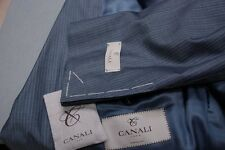 NEW NWT $2100 CANALI 1934 blue summer weight stripe suit EU 52R / US 42R 42 R