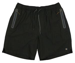 QUIKSILVER-Waterman-Lockdown-18-034-Volley-Boardshorts-sz-Medium-Black-Shorts-Swim