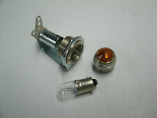 Tube amp pilot light assembly, jewel, and #47 bulb,  amber jewel, USA made