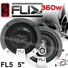 "FLI Integrator FI5 5.25"" Pulgadas Coche Dash Estante Altavoz Coaxial De Puerta Set 360w Par"