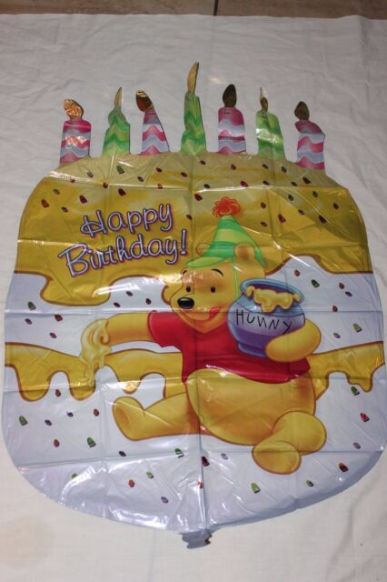 Pooh Birthday Cake 23 Mylar Balloon