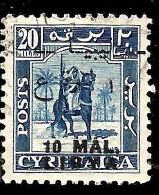 1951 Libya - Libya Aufdruck Auf Cyrenaica Libyen Gebraucht Marke Arab Krieger