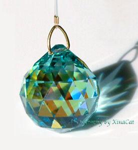 8558-30mm-Swarovski-Antique-Green-AB-Sphere-Austrian-Crystal-Ball-1-1-6-inch