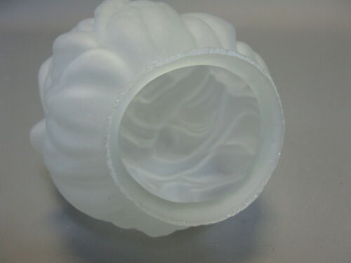 Lampshade Glass 15 CM X Diameter 11 CM Satin White Torch Replacement Glass