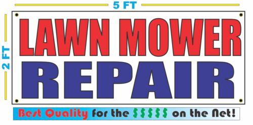 LAWN MOWER REPAIR Banner Sign NEW 2x5 blades oil grass landscape