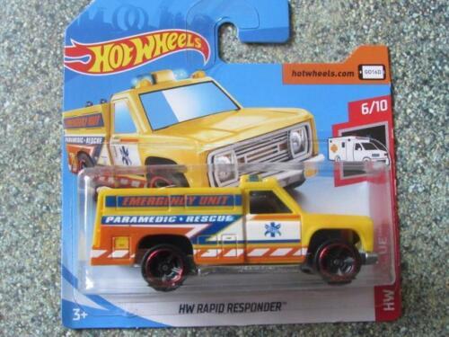 "Hot Wheels 2019 #123//250 HW RAPID RESPONDER /""paramedic/"" yellow @E"
