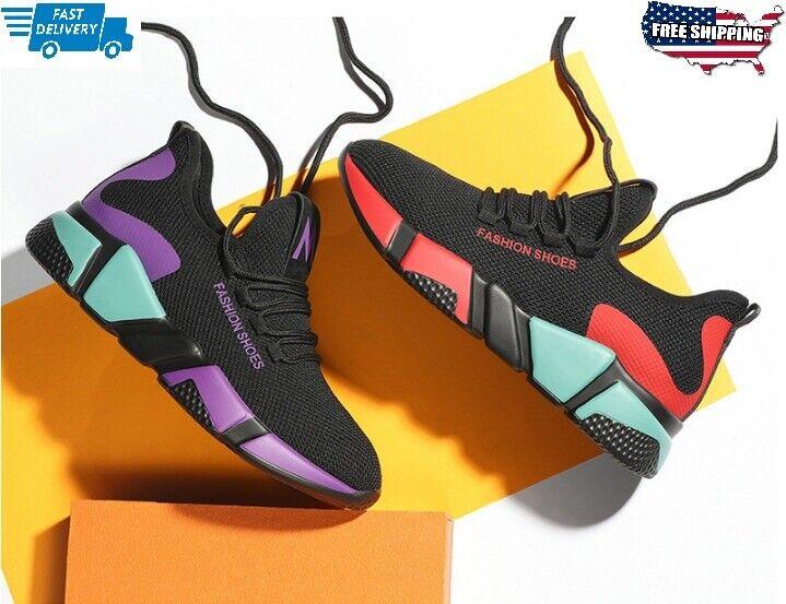 Les Femmes Outdoor Loisirs Athletic Respirant Marche Running Baskets Chaussures De Sport