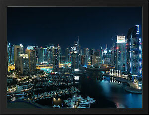 GLITTERING-CITY-DUBAI-NEW-A3-FRAMED-PHOTOGRAPHIC-PRINT-POSTER