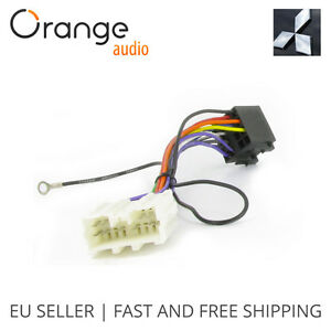 s l300 wiring lead harness adapter for mitsubishi lancer 1996 iso stereo  at n-0.co