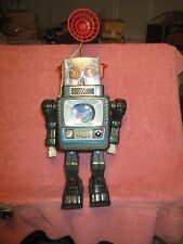 AMAZING 1959 ALPS BATTERY OPERATED TELEVISION SPACE MAN ROBOT