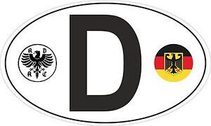 d deutschland germany adac german roundel car sticker van truck porsche vw dub ebay. Black Bedroom Furniture Sets. Home Design Ideas