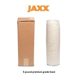 Jaxx Premium Grade Shredded Foam Filling - Refill for Pillows & Bean Bags, 5 LB
