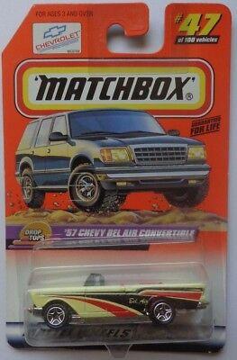 DROP TOPS #47//100 MATCHBOX 1999 /'57 CHEVY BEL AIR CONVERTIBLE