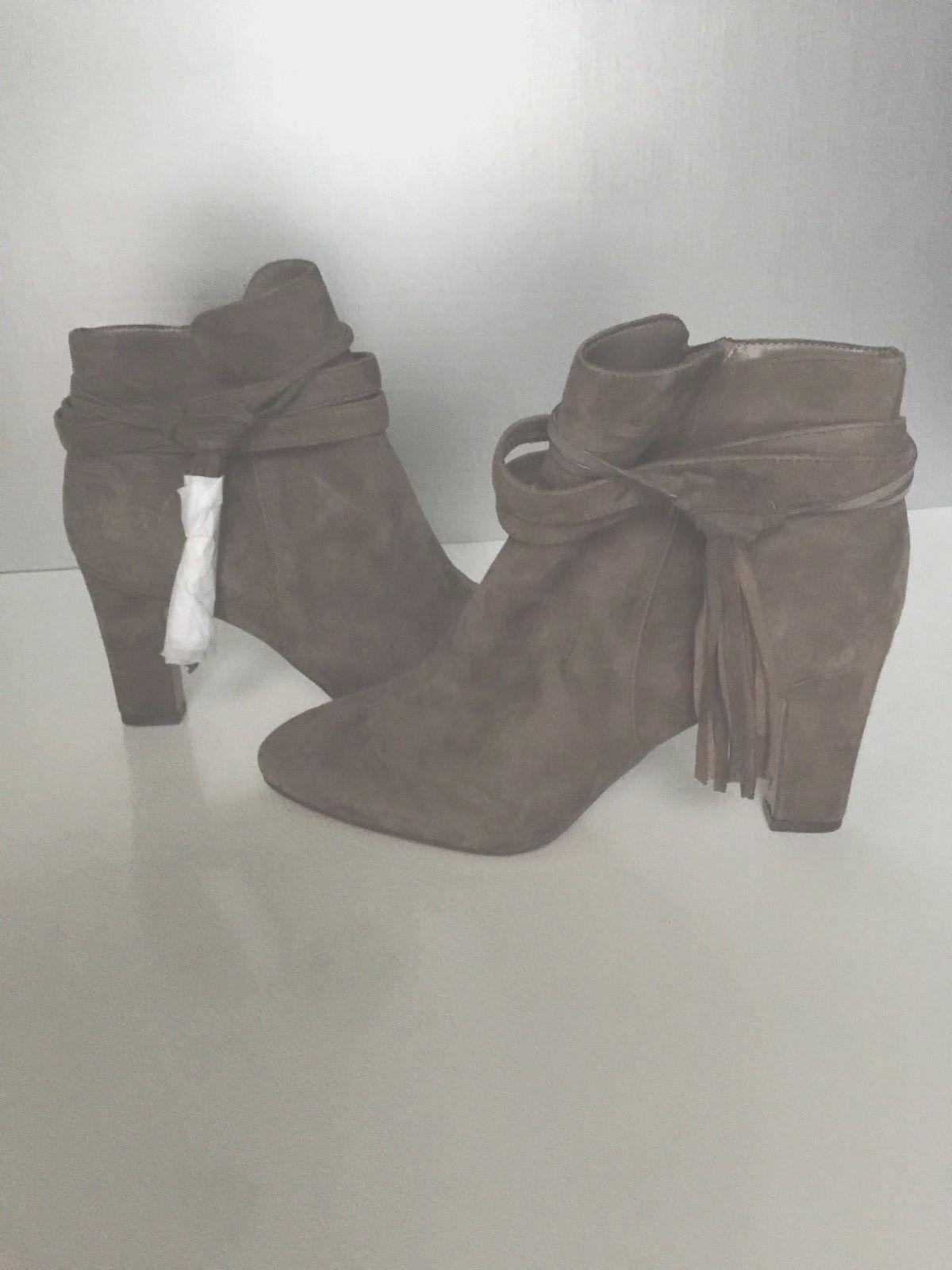 Lauren Ralph Lauren Taupe Suede Booties Ankle Boots 9.5