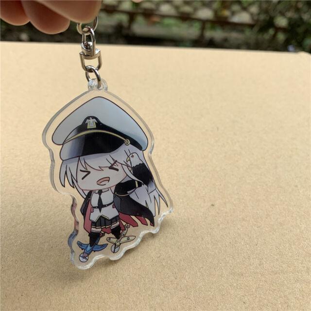 Azur Lane Dakimakura Laffey Akashi Prinz Eugen Keychain Keyring Strap Pendant