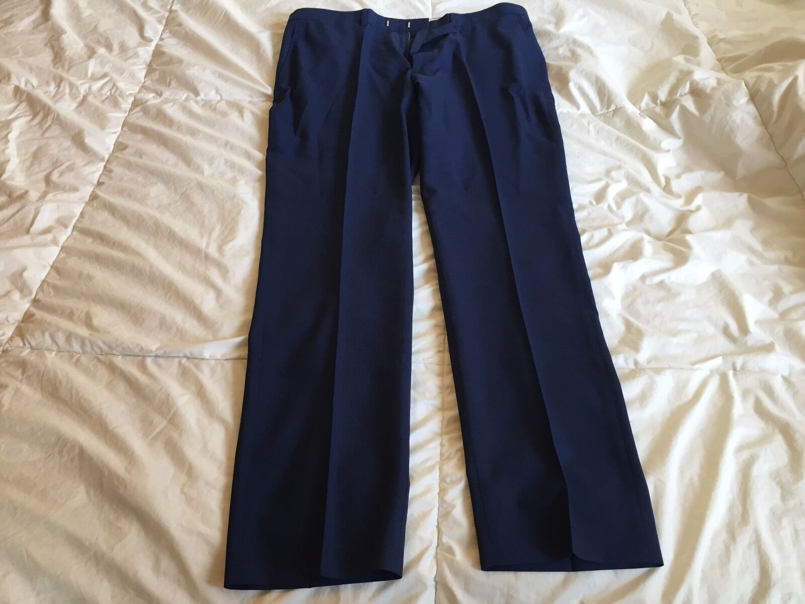 J.Crew Bowery Slim Pant in Italian Four-Season Wool, Bright Navy, 30X32, See Pic