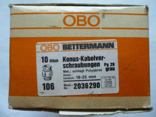 18-25mm VPE10 St. OBO Bettermann Konus-Kabelverschraubung 106 grau Dichtber