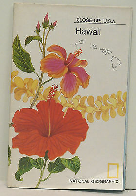 Vintage 1976 National Geographic Map of Hawaii w//Remarks