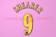 Shearer #9 1998-1999 Newcastle Player Size PREMIER LEAGUE Away Nameset Printing