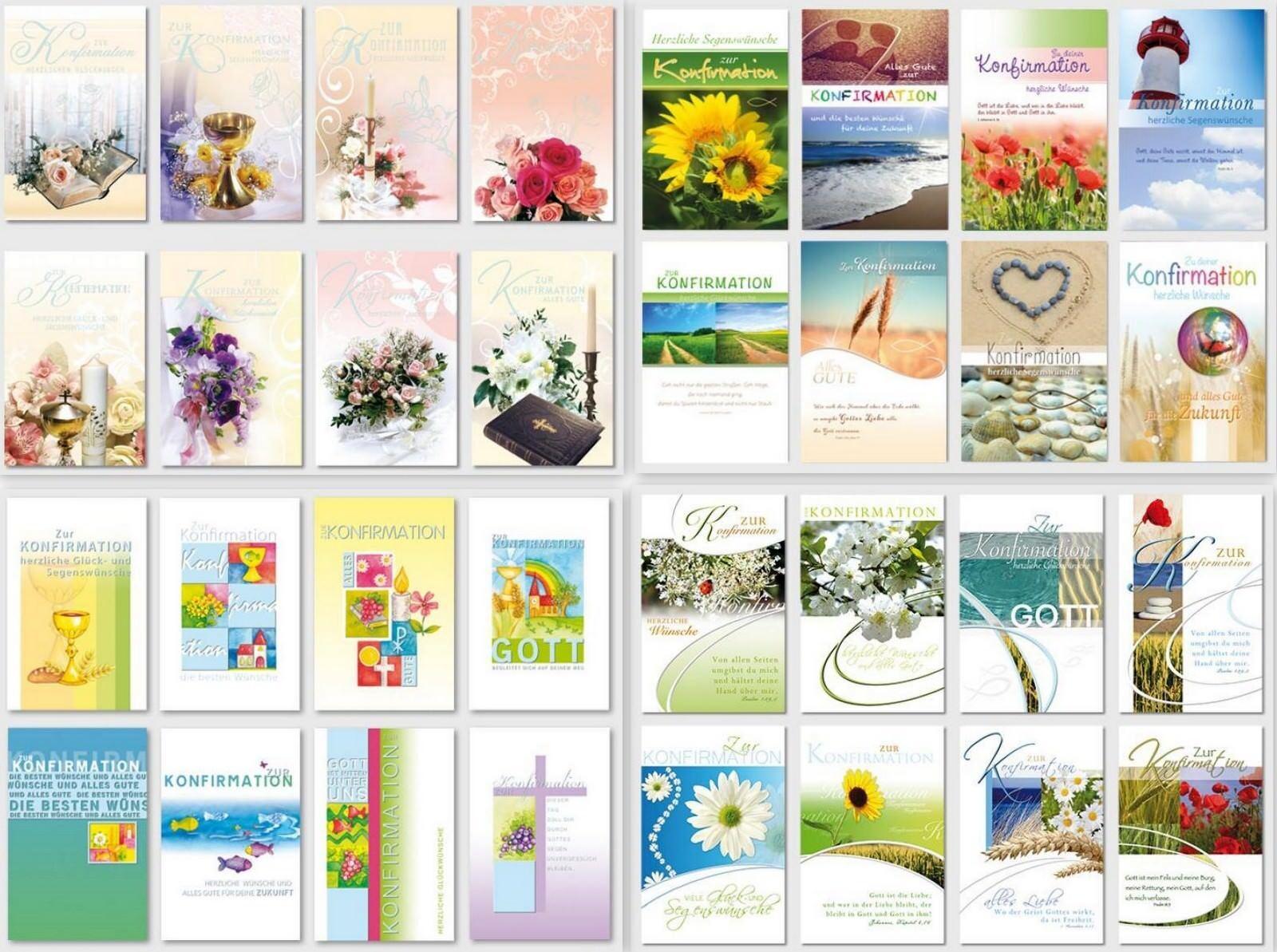 Ab 19 ct. schöne Konfirmationskarten, Klappkarten mit Umschlag, Blitzversand     Ausgezeichnete Leistung    Großer Verkauf