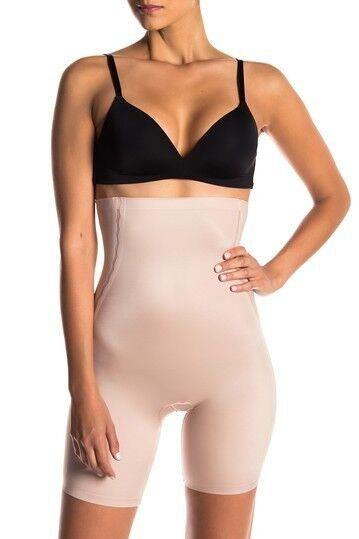 d7b24a785dd63 New Women s SPANX 10043R Beige Luxe Lean High Waist Shapewear Shorts size M