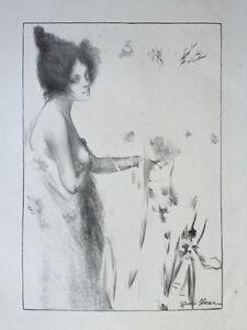 Henri-Heran-original-lithograph-on-japan-Art-Nouveau-Fleur-de-Mai