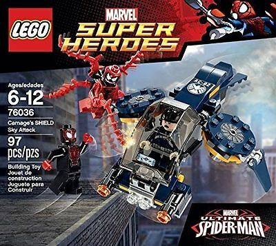 LEGO MARVEL SUPER HEROES 76036 CARNAGE'S SHIELD SKY ATTACK 97 PCS MINT IN BOX