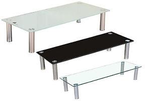 tv aufsatz glas weiss schwarz klar fernseherh hung wei max 60kg led rack neu ebay. Black Bedroom Furniture Sets. Home Design Ideas