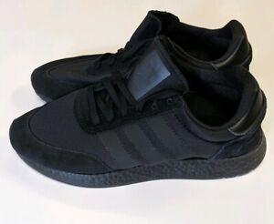 desagüe dulce Cálculo  New Adidas Originals I-5923 Iniki Boost Triple Black Men Shoes Size 10.5  BD7525 | eBay
