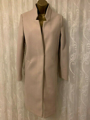 River Island Neutral Slim Tailored Trench Smart Work Jacket Coat 8 to 16 New