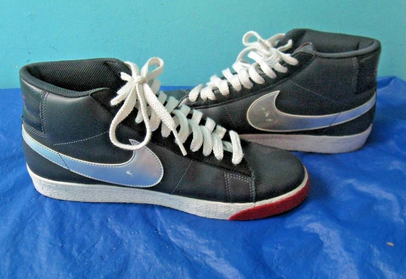 1e9edf20f6273f Nike Blazer High Anthacite Silver Black Sneakers Shoes Shoes Shoes  315877-001 (Sz 10