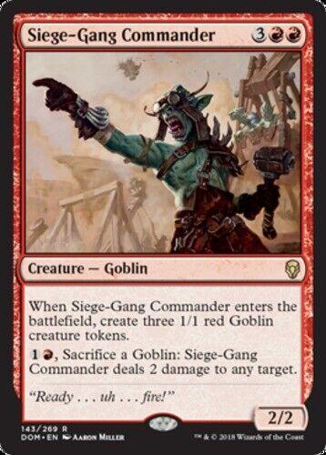 English -BFG- MTG Magic x4 4x Siege-Gang Commander Dominaria Near Mint