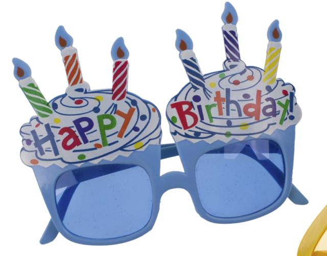 Happy Birthday Glasses Fancy Dress Celebration Party Accessory