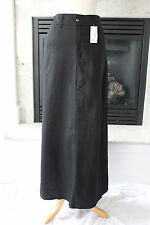 KOSHER CASUAL NEW Long Black A-Line Cotton CUTE Modest Maxi Skirt M