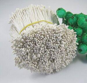 2400pcs Matte White 1mm Flower Stamen Floral for Decoration Other Crafts Home